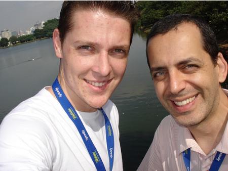 Helton Kuhnen e Wagner Fontoura - Campus Party Brasil 2008