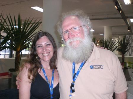 Liliana Pellegrini e Jon MadDog Hall - Campus Party Brasil 2008